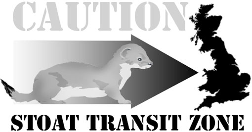 stoat in transit