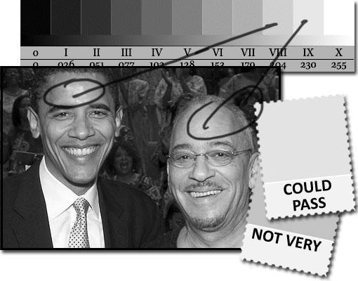 obama grayscale