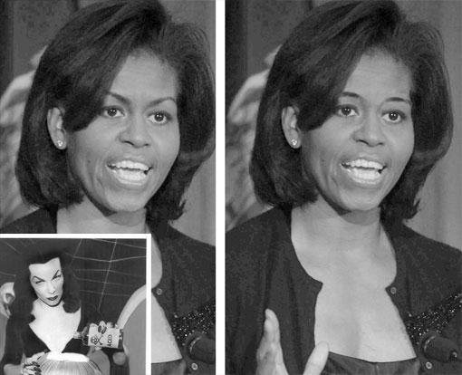 michelle obama's angry eyebrows