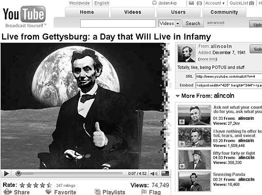 lincoln's youtube account