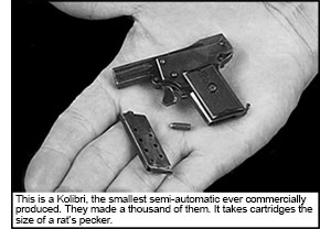 smallest semi-auto every commercially manufactured