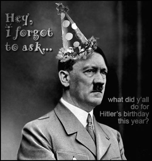 Hitler Birthday Card Gangcraft